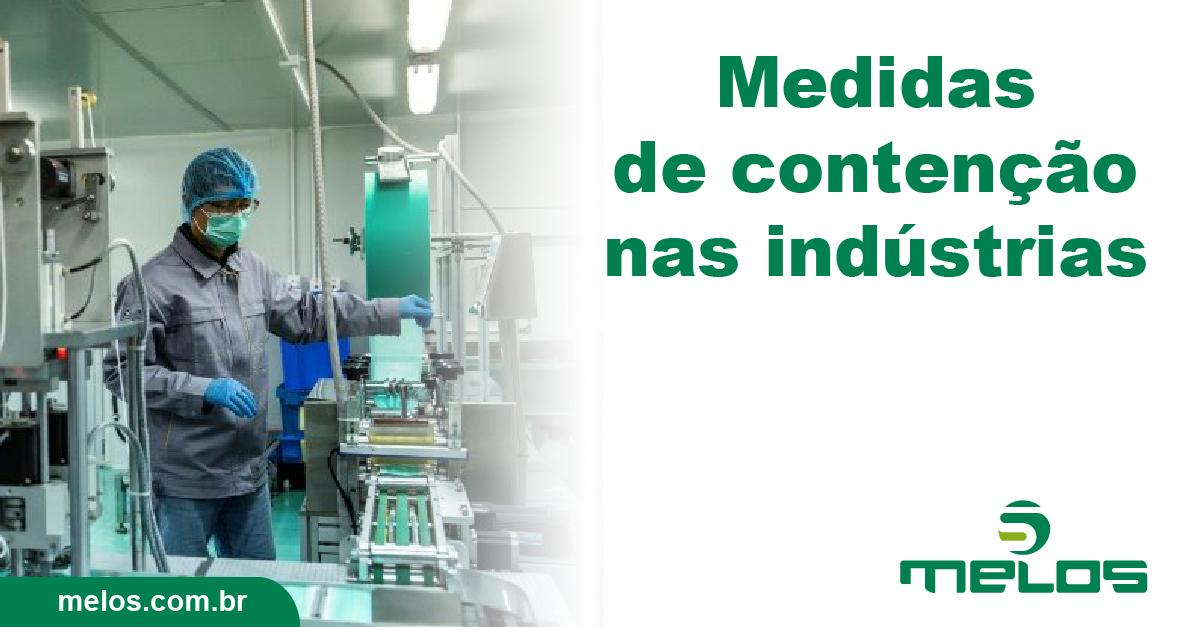 Medidas de contenção nas indústrias