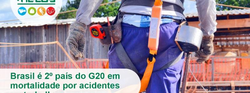 Brasil é 2º país do G20 em mortalidade por acidentes no trabalho